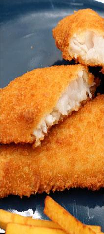 Pre-fried& Breaded fish